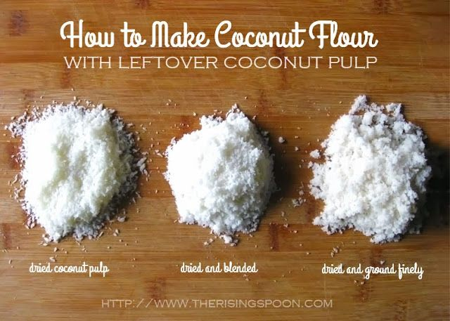 Learn how to make your own coconut flour using leftover coconut pulp from homemade coconut milk. Doing this will give you two products for the price of one.