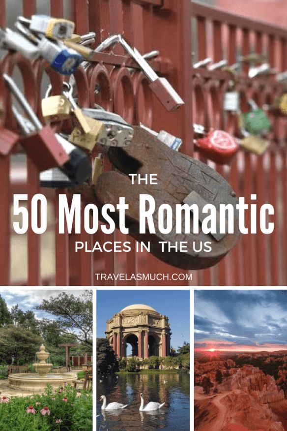 the most romantic places in each state