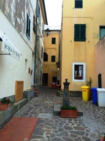 Street of marciana marina . Elba Island