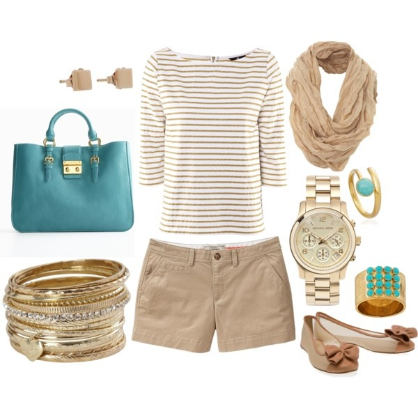 love: Colors Combos, Khakis, Blue, Boats, Summer Outfits, Flats, Spring Outfits, Bags, My Style