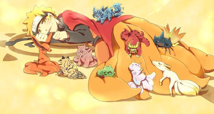 Naruto  Matatabi Shukaku Isobu Kokuo Son Goku Saiken Chomei Gyuki Kurama #naruto #kurama