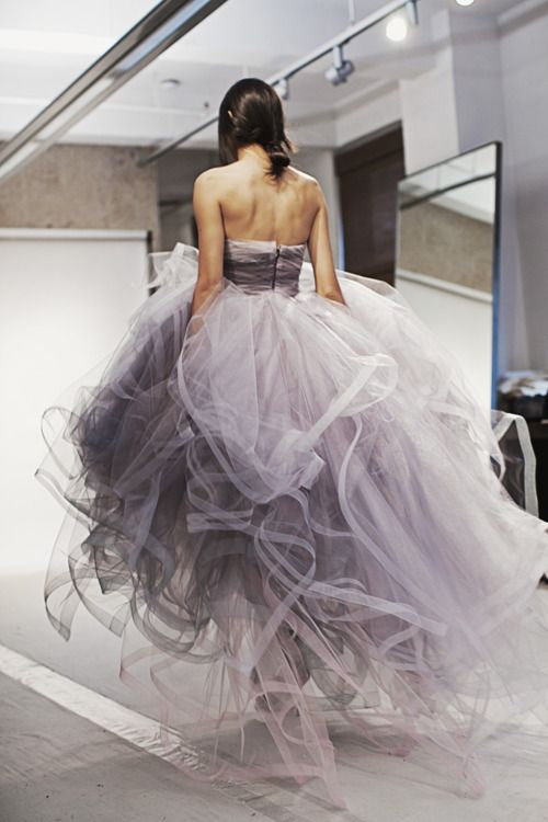 cloud of tulle.