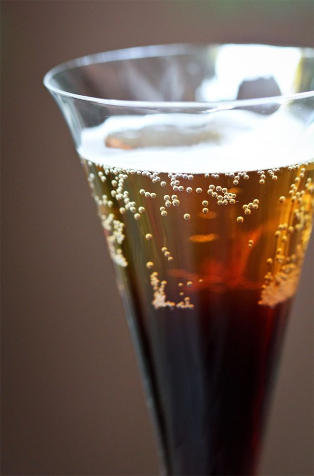 Black Velvet: equal parts Guinness and Prosecco - two of my favorites, but together... maybe weird?
