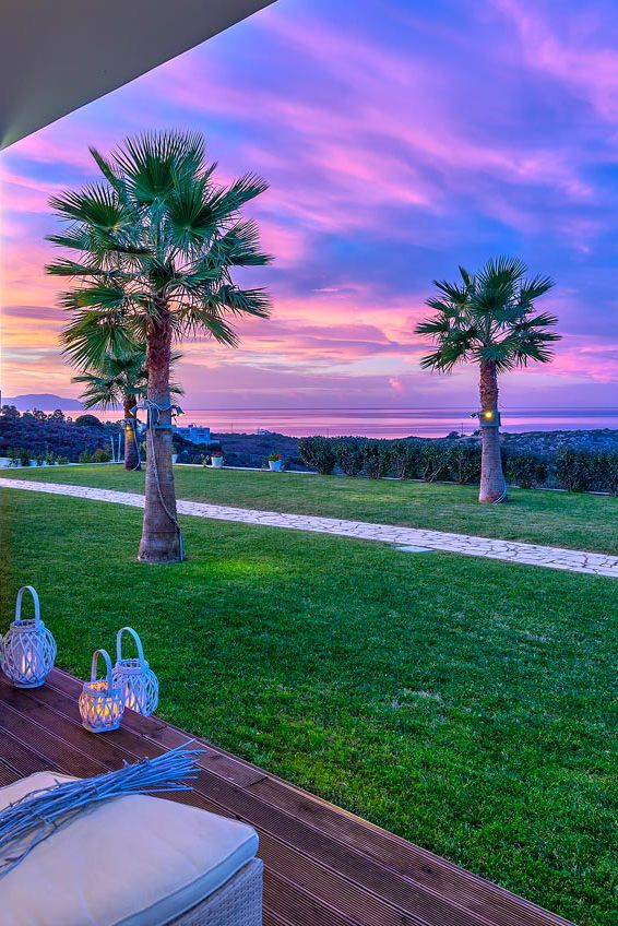 Magical Sunset Colors Chania Crete Holiday Beautiful Vacations