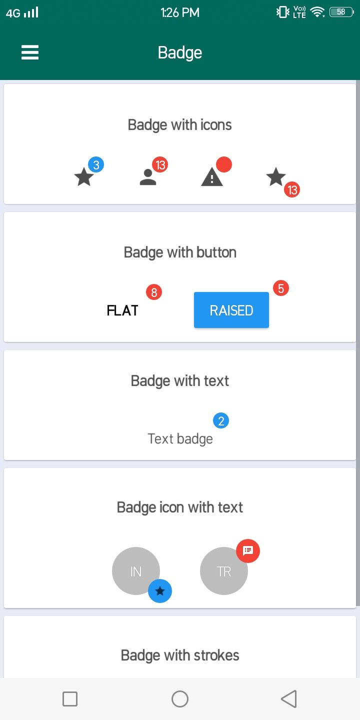 React Native Material Design Component Material Design React