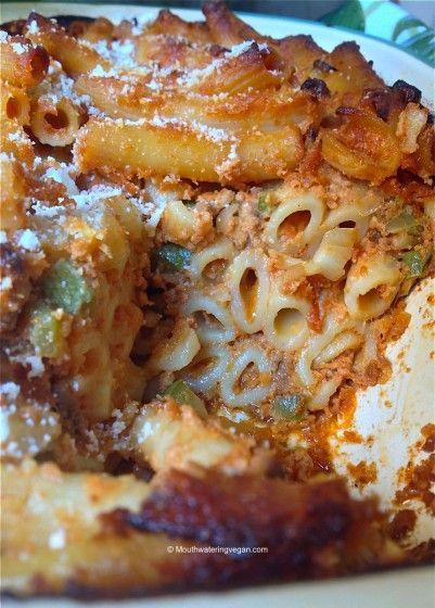 Maltese vegan baked macaroni