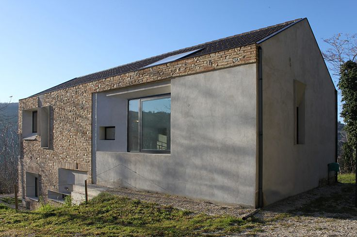 Barilari Architetti Builds Stone Picture House With Concrete Frames.  Gallery GalleryItalyArchitectureSmallest ...