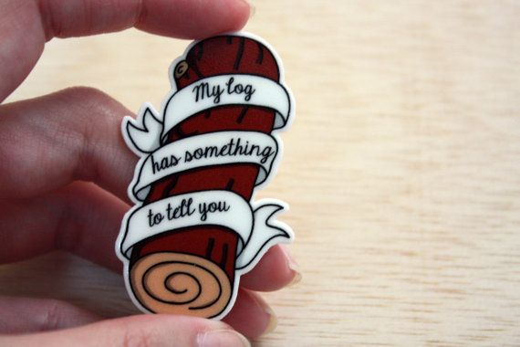 Twin Peaks Brooch Log Lady Brooch Shrink Plastic by SayonaraBaby