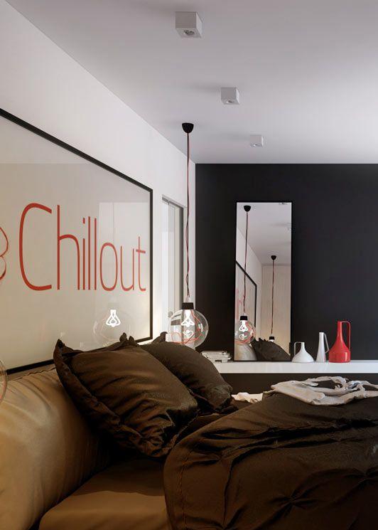 Bedroom design i Katowice POLAND - archi group. Sypialnia w Katowicach