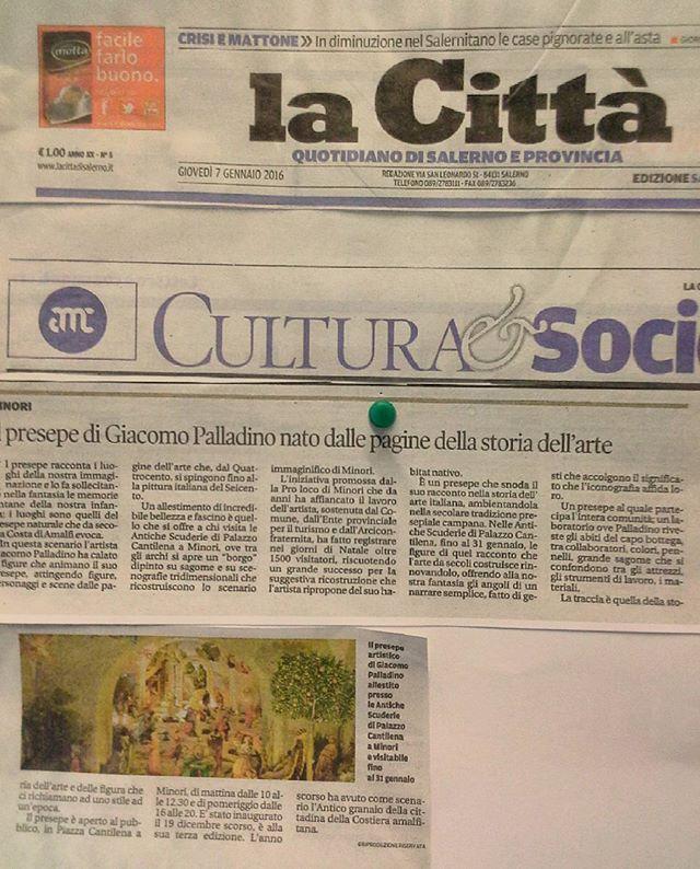 """Dalla rassegna stampa del Presepe Dipinto di Giacomo Palladino - """"La Città""""  #lacitta #salerno"""