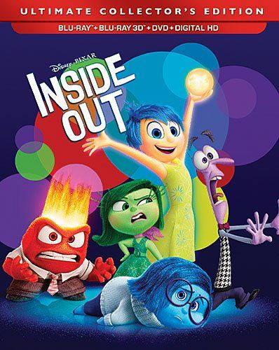 Disney Pixar Inside Out 3D Exclusive Ultimate Collector's Edition ( 3D Blu Ray + Blu Ray + DVD + Digital HD) [Blu-ray]