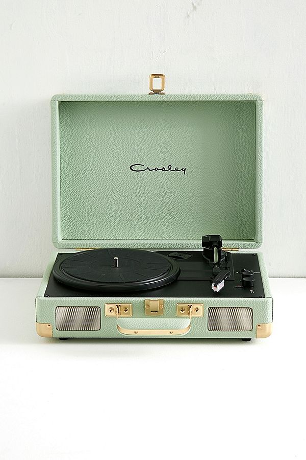 Crosley Cruiser Mint And Gold Bluetooth Vinyl Record Player Vinyl Record Player Vinyl Player Record Player Urban Outfitters