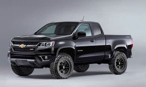 lifted 2016 Chevy Colorado Z71.