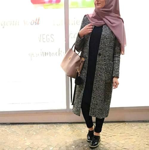 New winter hijab fashion looks – Just Trendy Girls