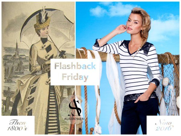 Did you know the #nautical #trend was originally attributed to Queen Victoria from back in the 1800s? #FBF #fashion