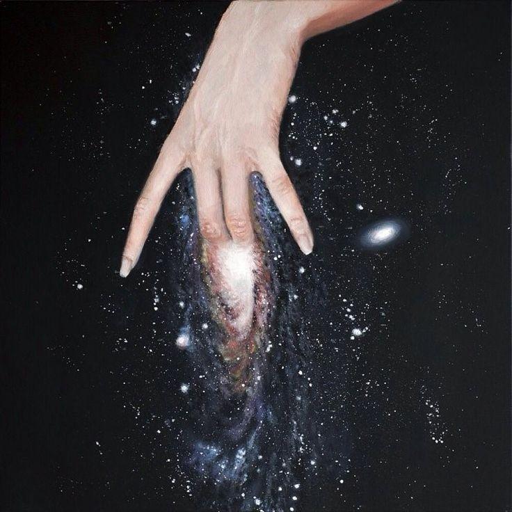 G de Galaxia.. Andromeda Pintura obra de Zeynep Beler vía culturainquieta,com