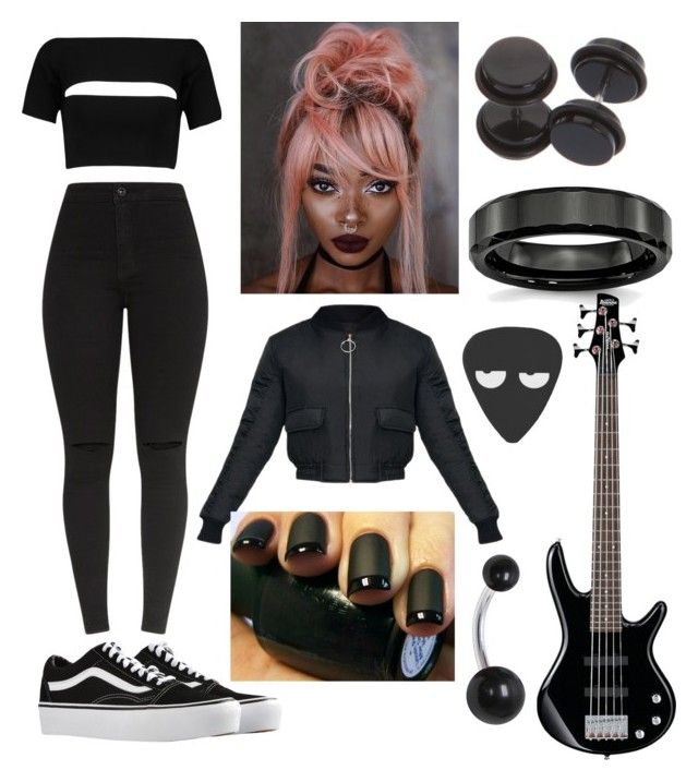 """Pink Hair But I'm Wearing All Black"" by averageordinary on Polyvore featuring T By Alexander Wang, Vans and Hot Topic"