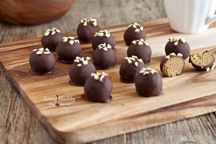 """""""Peanut"""" Butter Truffles (grain, dairy, peanut free, paleo) by LivingHealthyWithChocolate.com"""