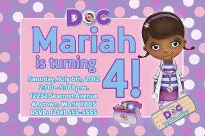 doc mcstuffins party invitation