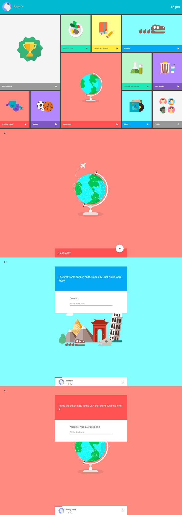 Quiz App made with Material Design