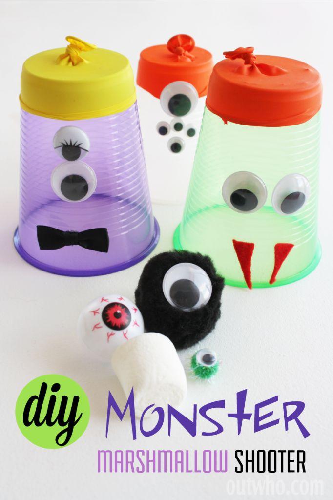 Easy fun kids craft - Halloween DIY marshmallow shooter