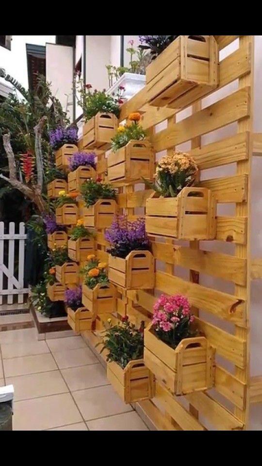 M s de 1000 im genes sobre macetas o maceteros con palets for Jardin vertical mercadolibre