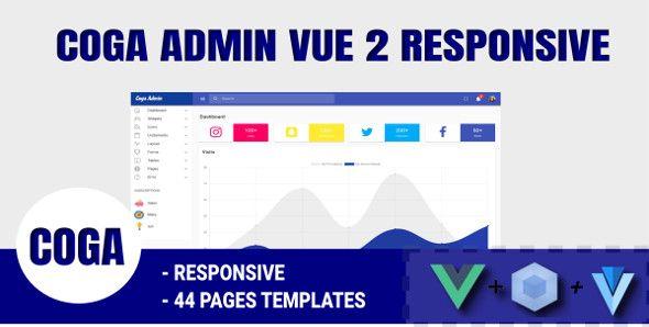 Coga - Admin Vue 2 WebPack Responsive Vuetify #Vue, #Admin, #Coga