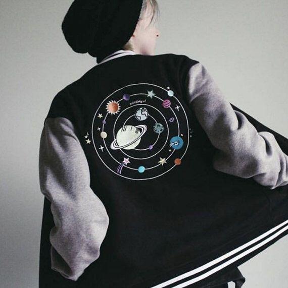 A personal favorite from my Etsy shop https://www.etsy.com/listing/477373219/aliens-solar-unisex-baseball-jacket