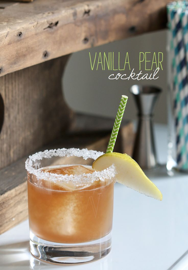 Pear Cocktail - fabulous late-summer / fall drink! | Fall Drinks ...