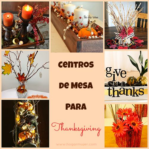 Thanksgiving decorations centros de mesa para Happy thanksgiving decorations