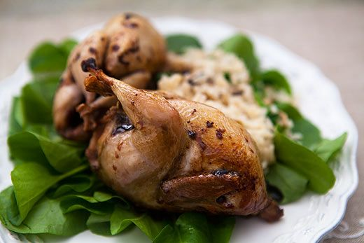 Roast Quail with Balsamic Reduction on Simply Recipes