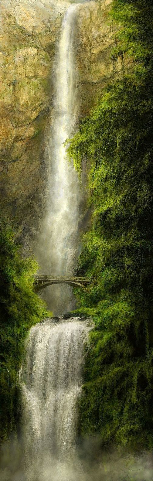 Multnomah Falls ~ a waterfall as magnificent and memorable as any in the country. Located on the Oregon side of the Columbia River Gorge, along the historic Columbia River Highway.