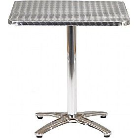 Aluminium Bistro Square Table £75 - Bistro Furniture