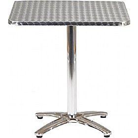 Aluminium Bistro Square Table £75 - Bistro Furniture