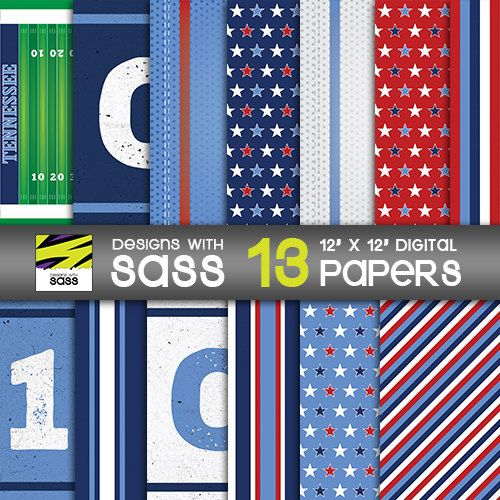 Digital Paper, Tennessee, Tennessee Titans, Titans, Papercraft, Football, NFL, Jamberry, Sports, Red, White, Blue, Pattern, Commercial Use by DesignsWithSass on Etsy