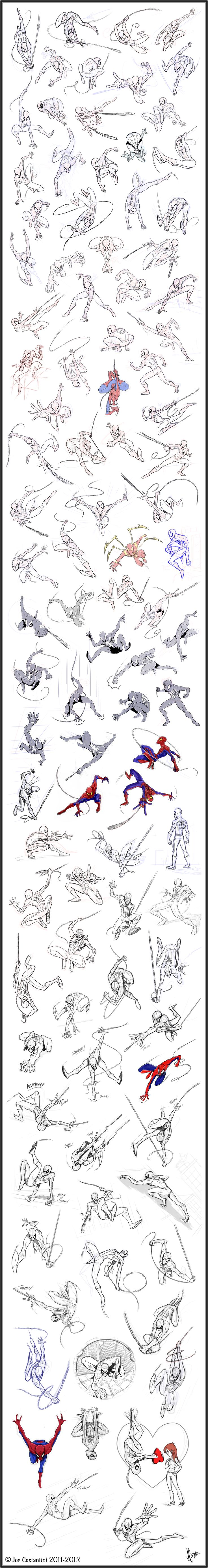 100 Spidey Poses by *2Ajoe on deviantART.