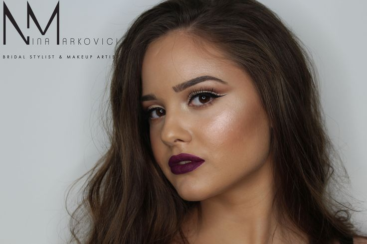 Dark lips makeup
