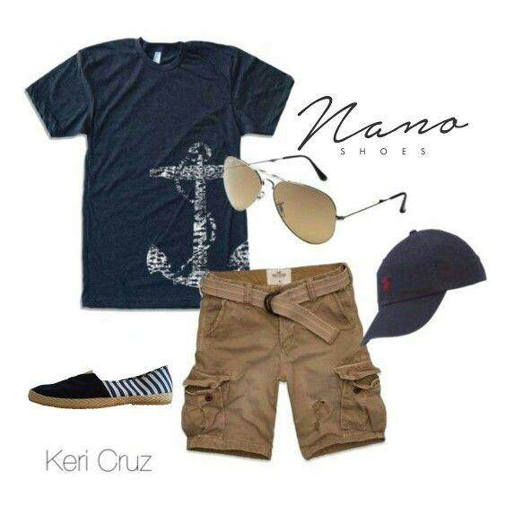 Outfit, complementos, men, marine, alpargatas, shoes, men, anchor, zapatos