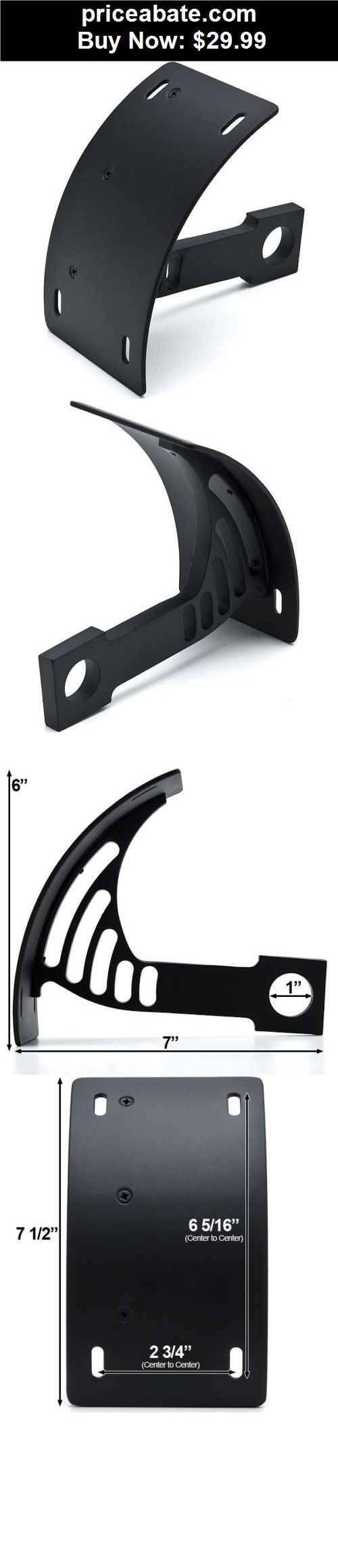 Motors-Parts-And-Accessories: Black Vertical Plate Holder For Harley Davidson XL Sportster 1200 Custom - BUY IT NOW ONLY $29.99