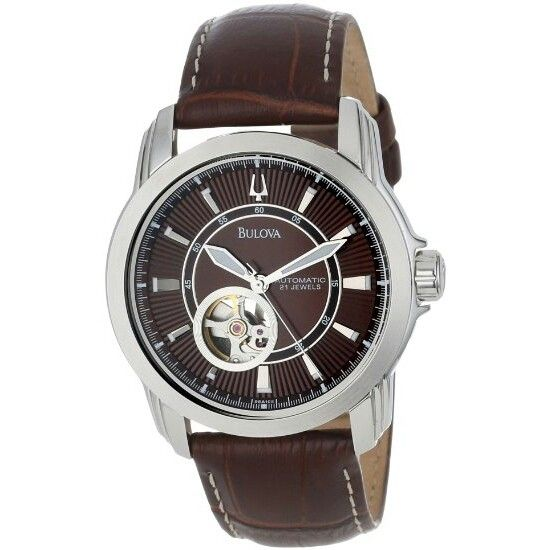 Bulova mens brown watch