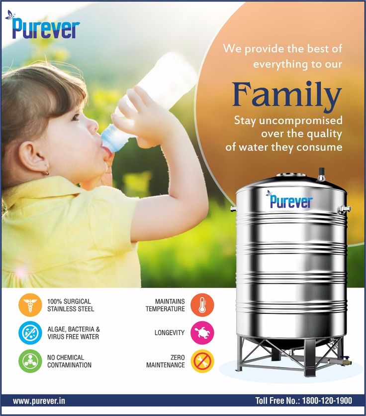 #PUREVER# Provides best of our Family# Uncompromised #over Quality#Water we consume# Switch to PUREVER Stainless Steel Water Tank# www.purever.in