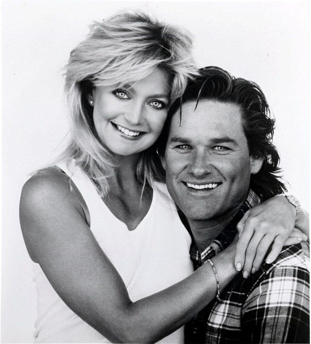 Star duo: Goldie and Kurt - who have a son together, former hockey player Wyatt Russell, a...