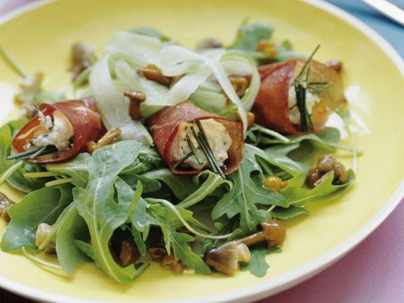 Schinkenrouladen mit Pilz-Rucola-Salat ist ein Rezept mit frischen Zutaten aus der Kategorie Fleisch. Probieren Sie dieses und weitere Rezepte von EAT SMARTER!
