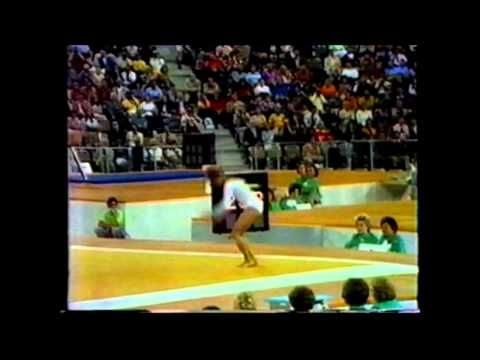 Olga Korbut 1972 Olympic Highlights.  Watch her uneven parallel bar routine.  You've never seen anything like it since.  It was outlawed because it was too dangerous.  We owe everything in Gymnastics to Olga.  She was the darling of the world in 1972.