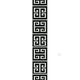 Free Bead Loom Bracelet Patterns | GREEK KEY - LOOM beading pattern for cuff bracelet HOLIDAY SALE