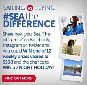 Share how you 'Sea. The difference' and you could WIN. Visit www.spiritoftasmania.com.au/seathedifference for more info