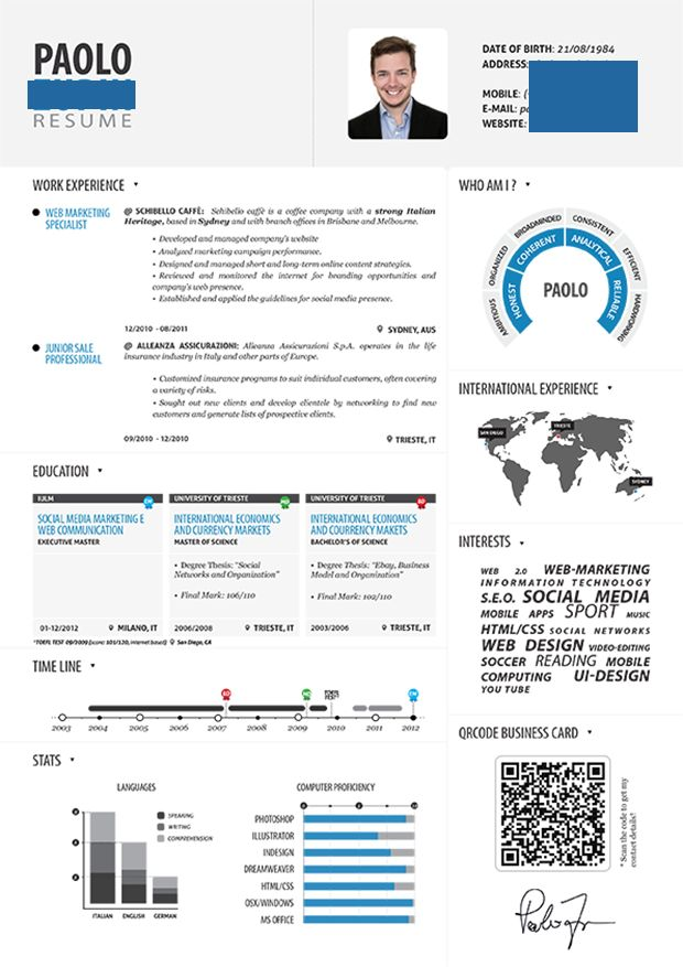 Paolo Zupin Modificato Infographic Resume 502918C6064e8 Copy Copy