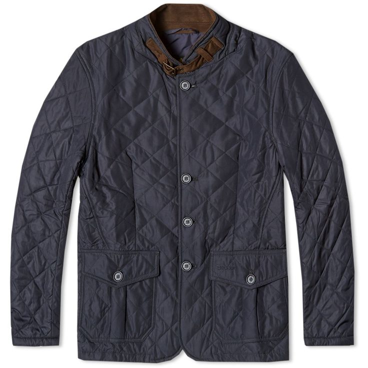 Typical of the utilitarian customisation that has made Barbour jackets an indispensable tool for those who live life outdoors, the  Quilt Jacket from the SS154 collection takes on a blazer style silhouette in a more contemporary cut. Cut from their signature nylon quilted fabrics, it is finished off with a variety of suede style trim and can be worn either as a high stance collar or a blazer style peaked lapel. A hard wearing and substantial piece from the South Shields legendary outdoor…