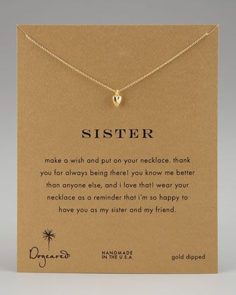 Sisters Heart Pendant Necklace by Dogeared at Neiman Marcus.