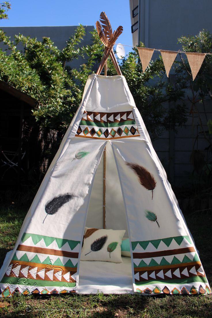 Custom-painted Teepee tent #WildOne #Teepeetent